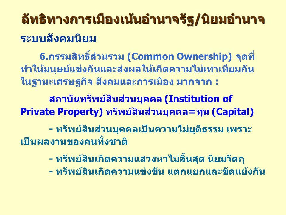 ลัทธิทางการเมืองเน้นอำนาจรัฐ/นิยมอำนาจ