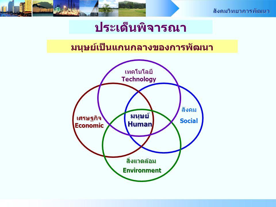 มนุษย์เป็นแกนกลางของการพัฒนา