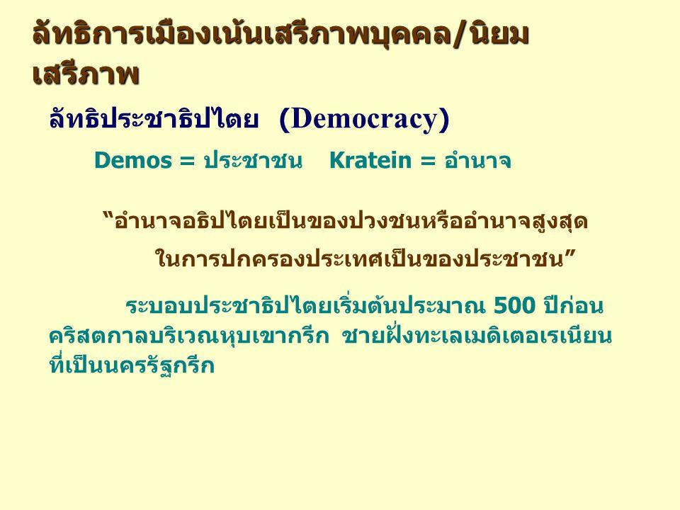 ลัทธิการเมืองเน้นเสรีภาพบุคคล/นิยมเสรีภาพ