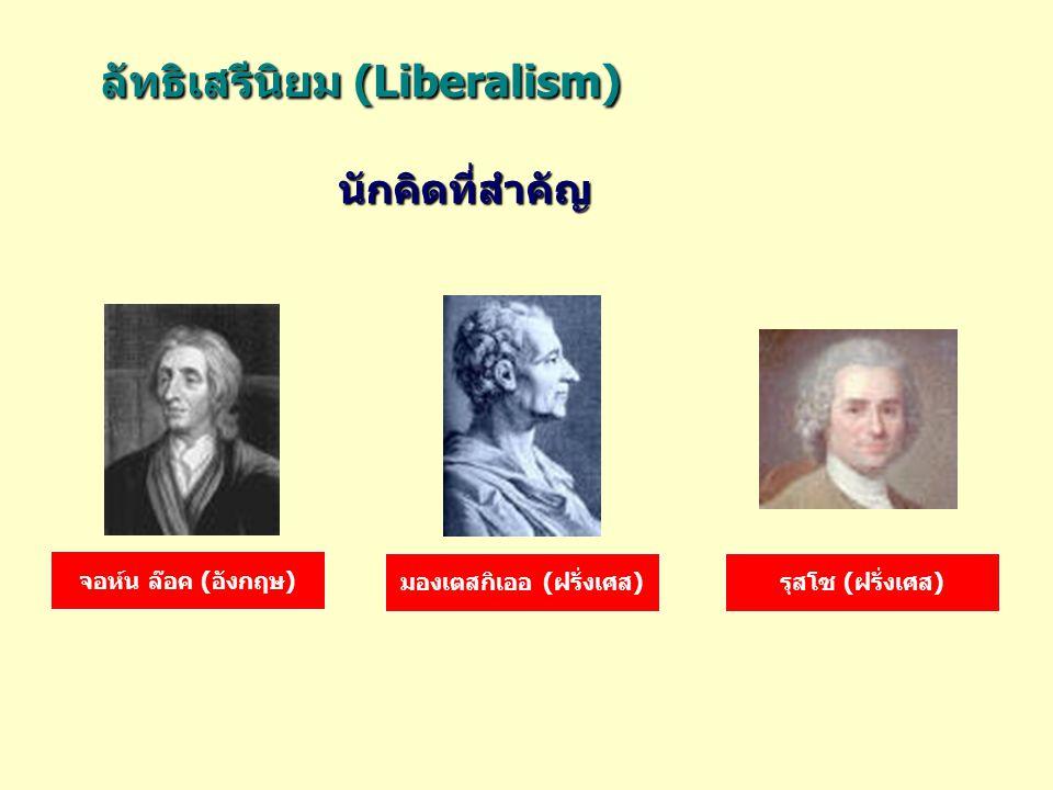 ลัทธิเสรีนิยม (Liberalism)