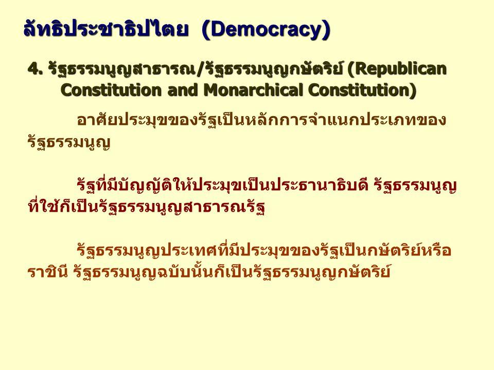 ลัทธิประชาธิปไตย (Democracy)
