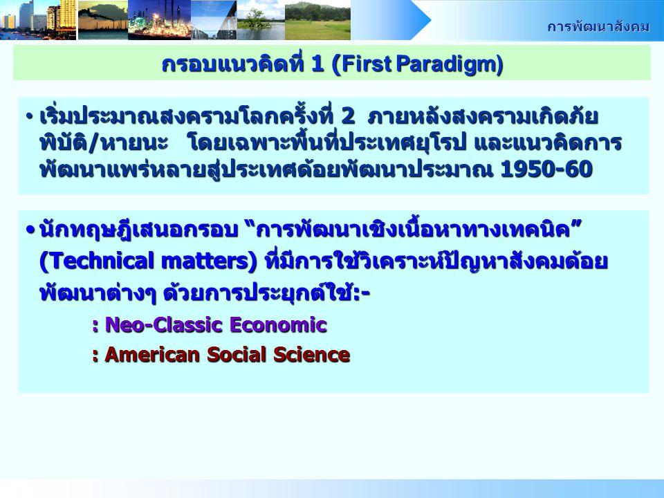 กรอบแนวคิดที่ 1 (First Paradigm)