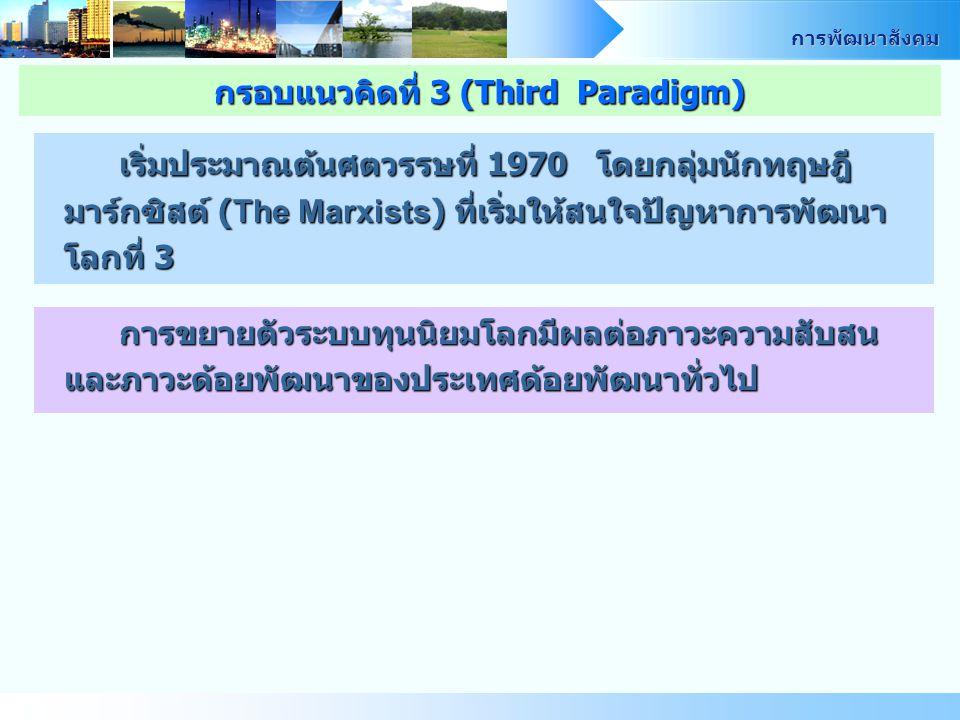 กรอบแนวคิดที่ 3 (Third Paradigm)