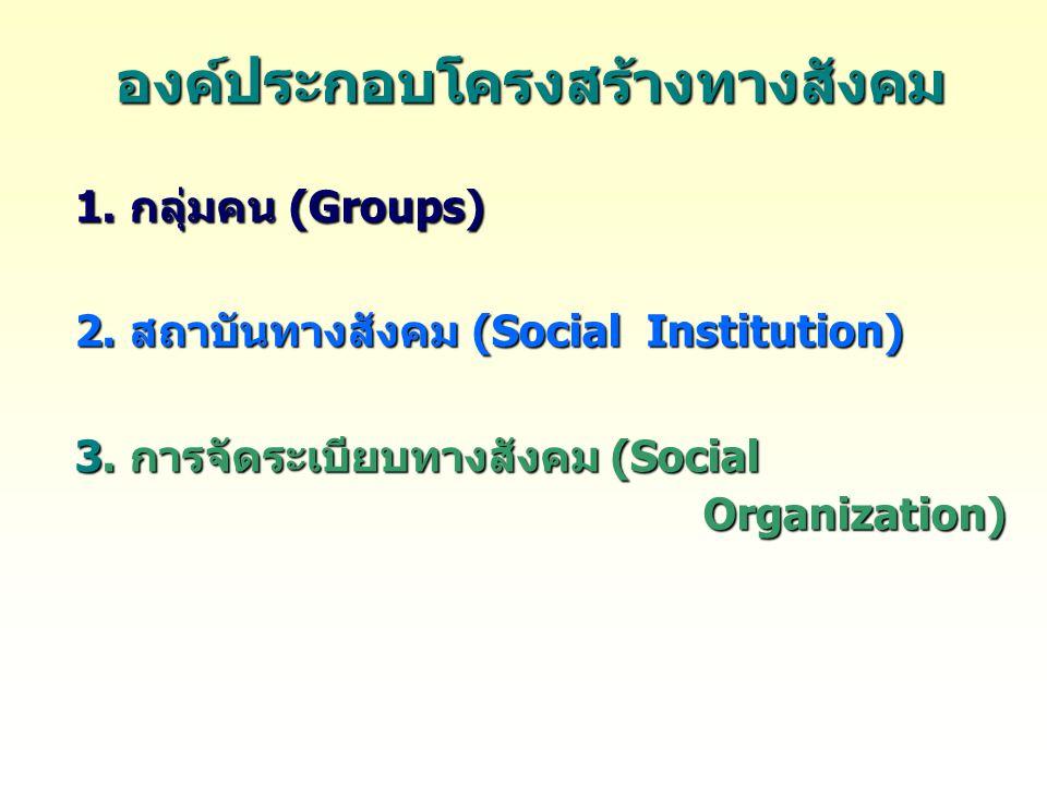 องค์ประกอบโครงสร้างทางสังคม