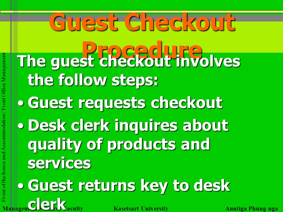 Guest Checkout Procedure