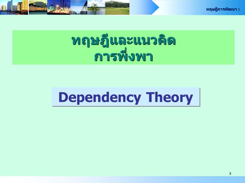 ทฤษฎีและแนวคิด การพึ่งพา