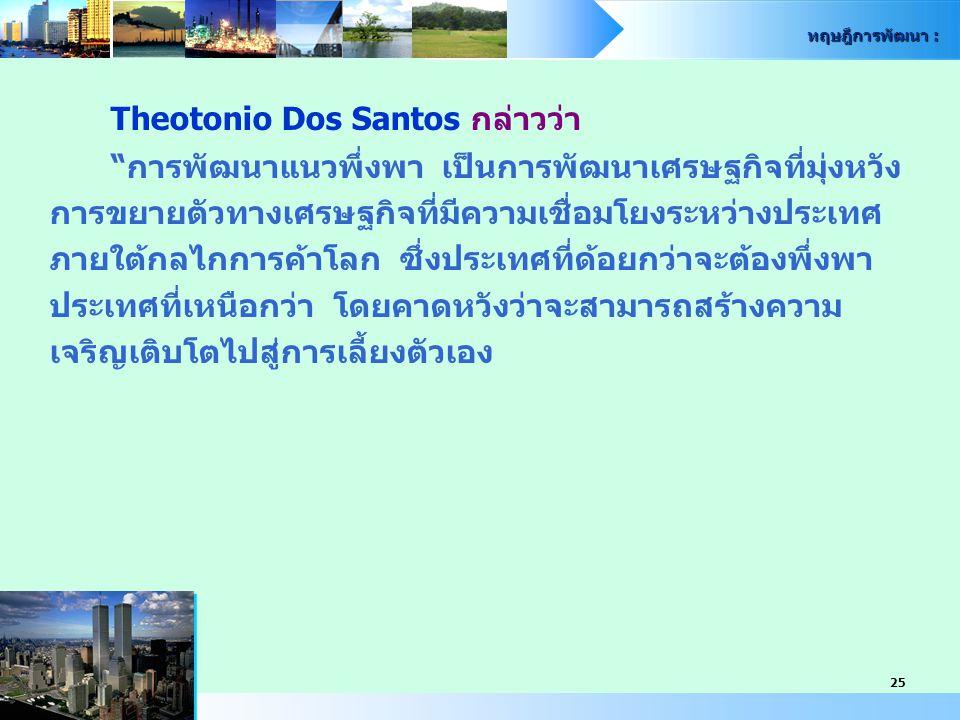 Theotonio Dos Santos กล่าวว่า
