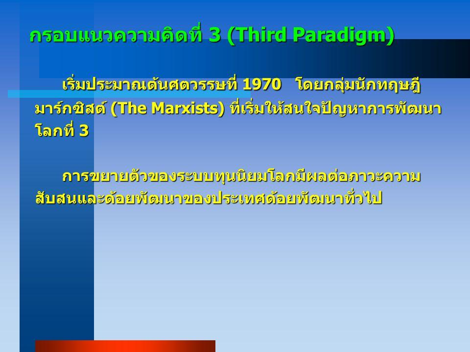 กรอบแนวความคิดที่ 3 (Third Paradigm)