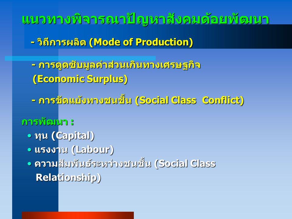 - วิถีการผลิต (Mode of Production)