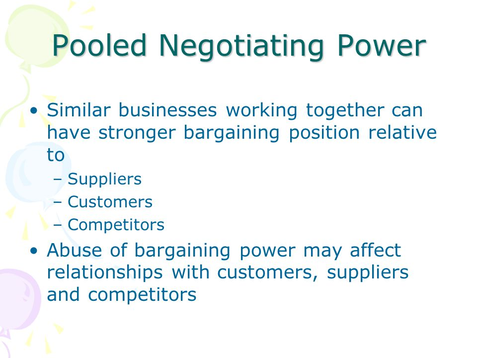 Pooled Negotiating Power