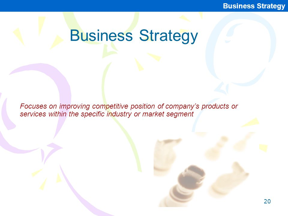 Business Strategy Business Strategy
