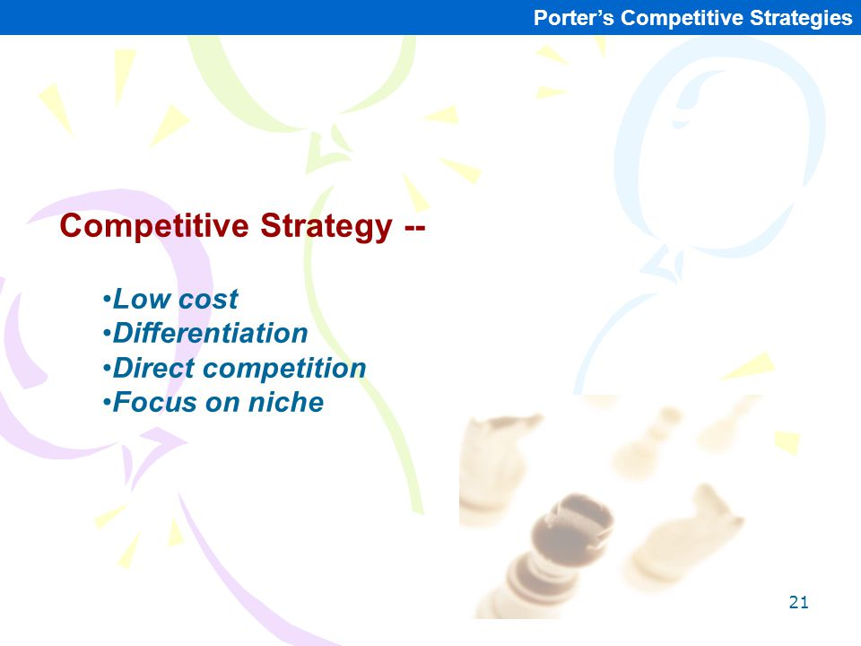Competitive Strategy --