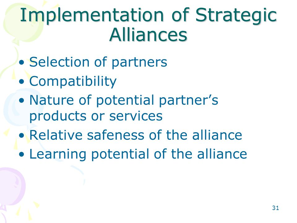 Implementation of Strategic Alliances