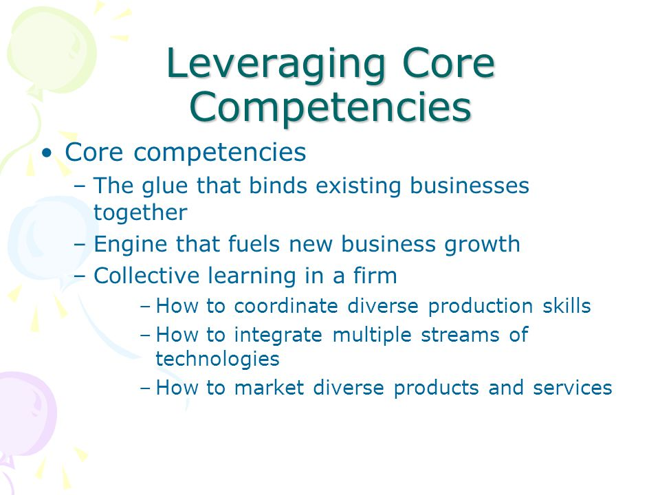 Leveraging Core Competencies