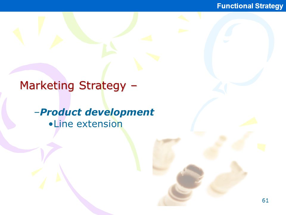Marketing Strategy – Product development Line extension