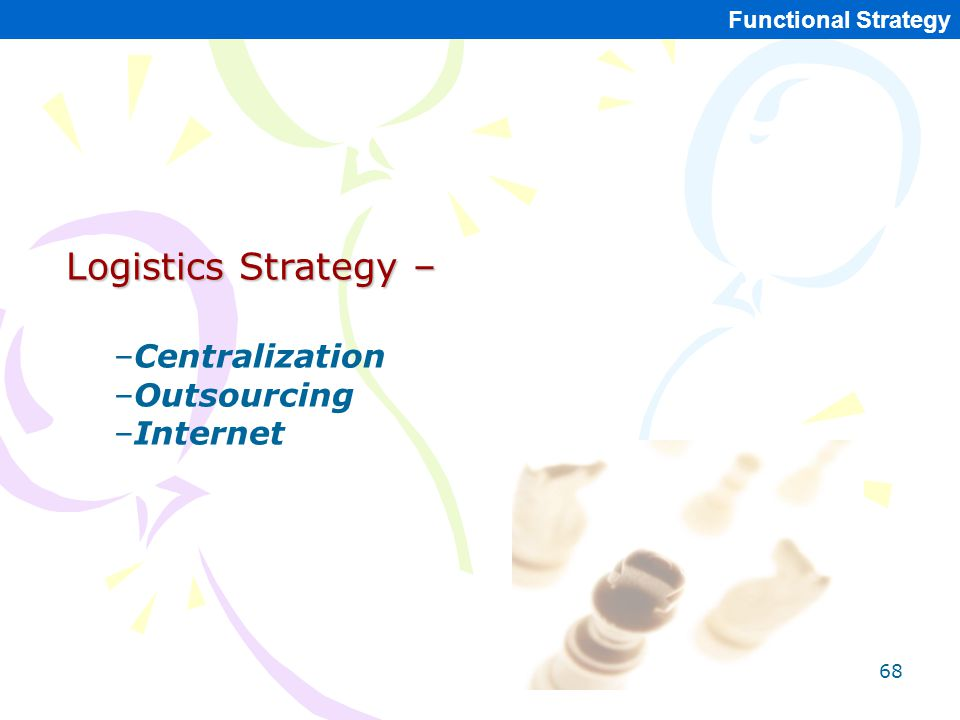 Logistics Strategy – Centralization Outsourcing Internet
