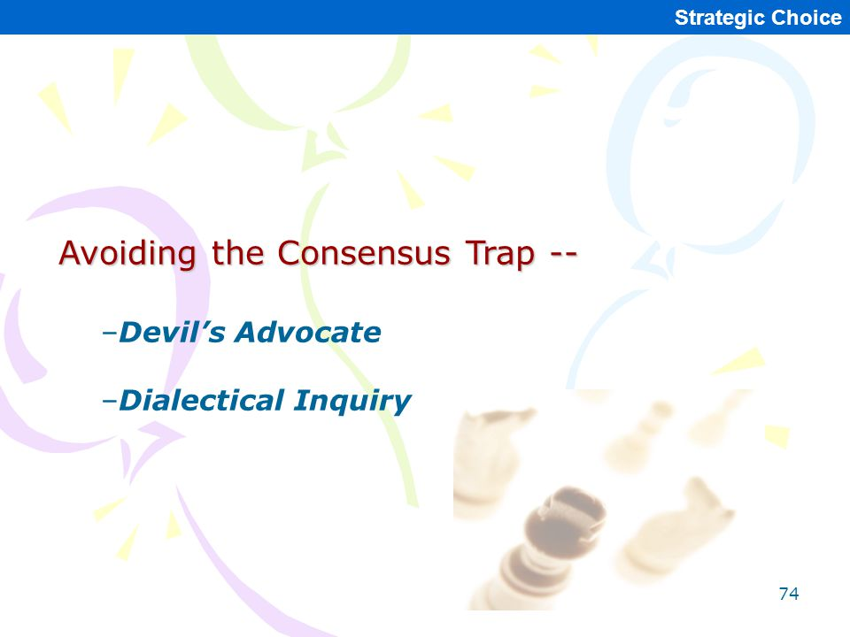 Avoiding the Consensus Trap --