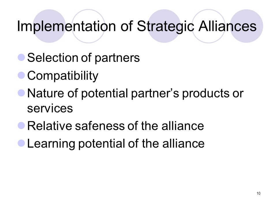 Implementation of Strategic Alliances