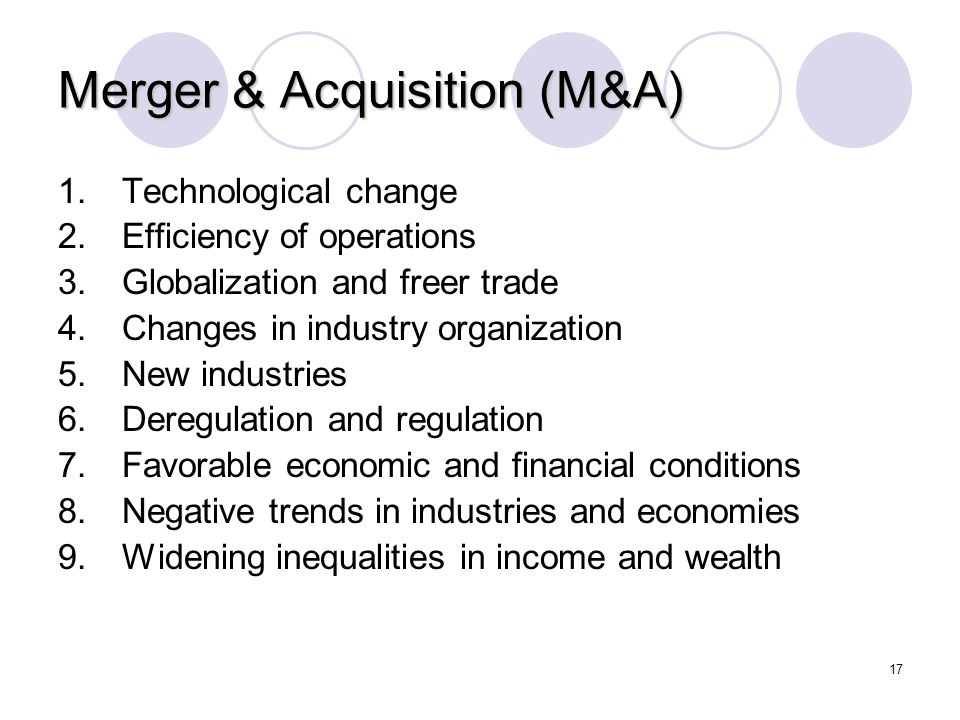 Merger & Acquisition (M&A)