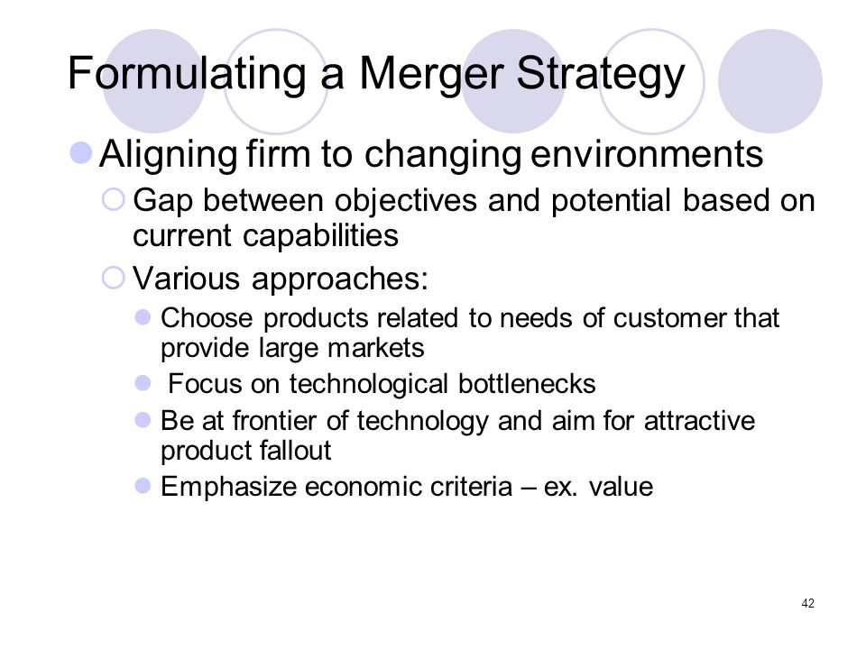 Formulating a Merger Strategy