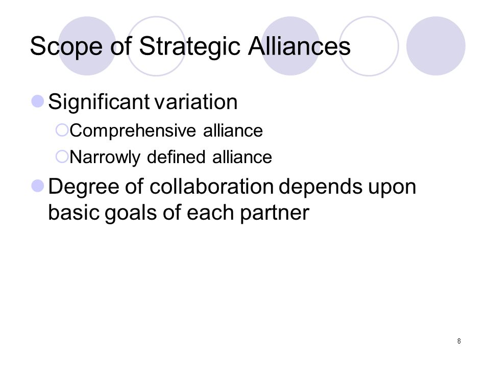 Scope of Strategic Alliances