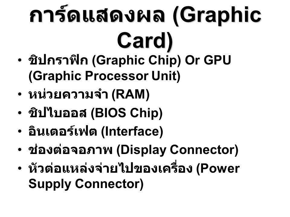 การ์ดแสดงผล (Graphic Card)