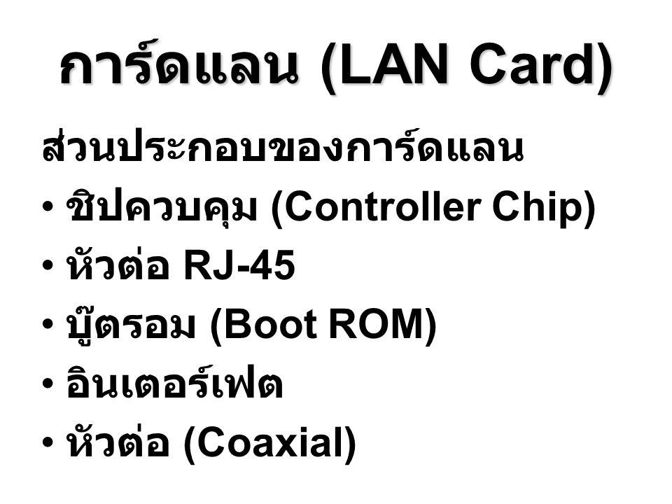 การ์ดแลน (LAN Card) ส่วนประกอบของการ์ดแลน ชิปควบคุม (Controller Chip)
