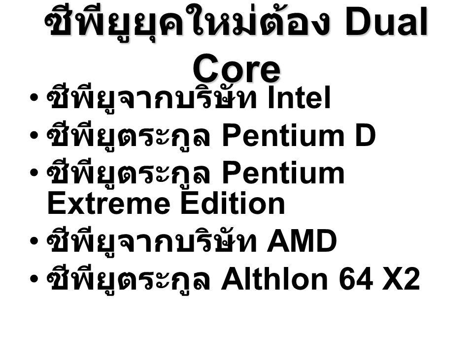 ซีพียูยุคใหม่ต้อง Dual Core