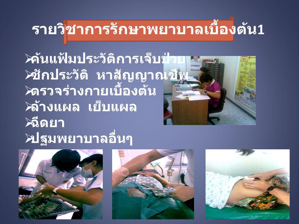 รายวิชาการรักษาพยาบาลเบื้องต้น1