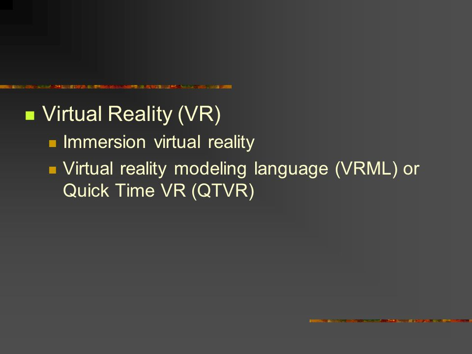 Virtual Reality (VR) Immersion virtual reality