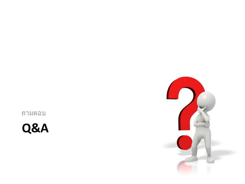 ถามตอบ Q&A