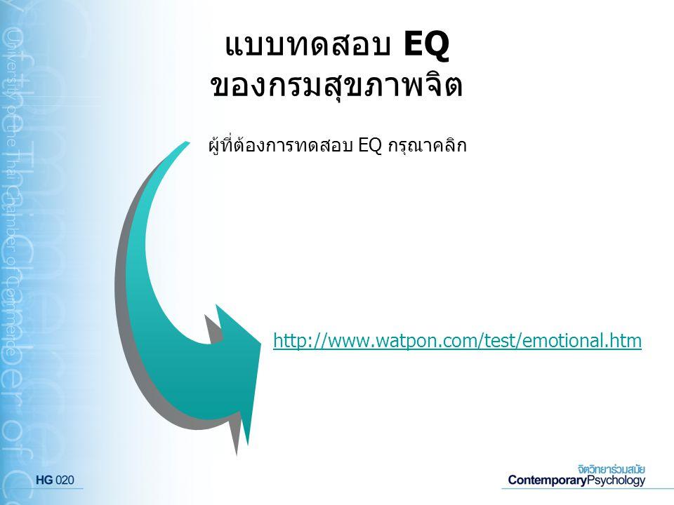 แบบทดสอบ EQ ของกรมสุขภาพจิต