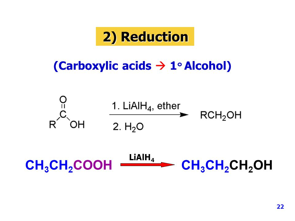 (Carboxylic acids  1๐ Alcohol)