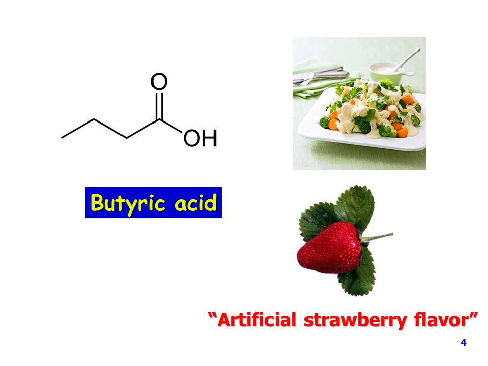 Butyric acid Artificial strawberry flavor 4