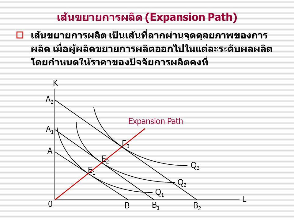 เส้นขยายการผลิต (Expansion Path)