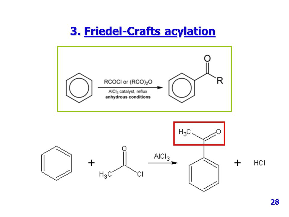 3. Friedel-Crafts acylation
