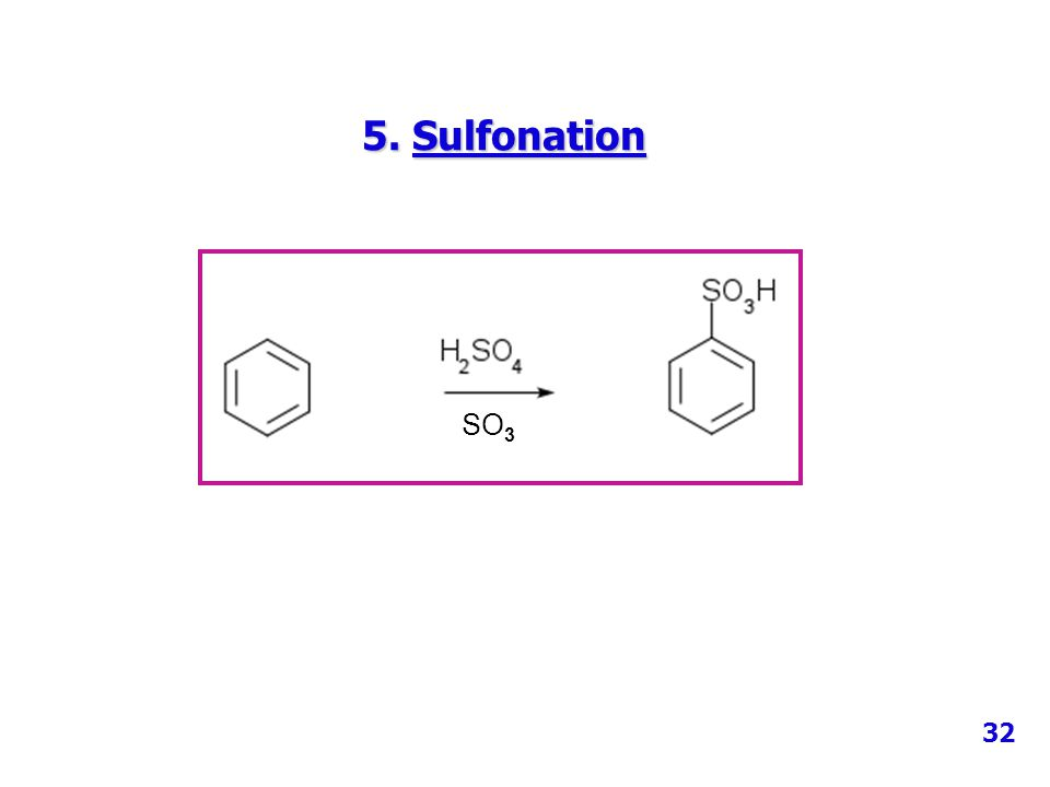 5. Sulfonation SO3 32