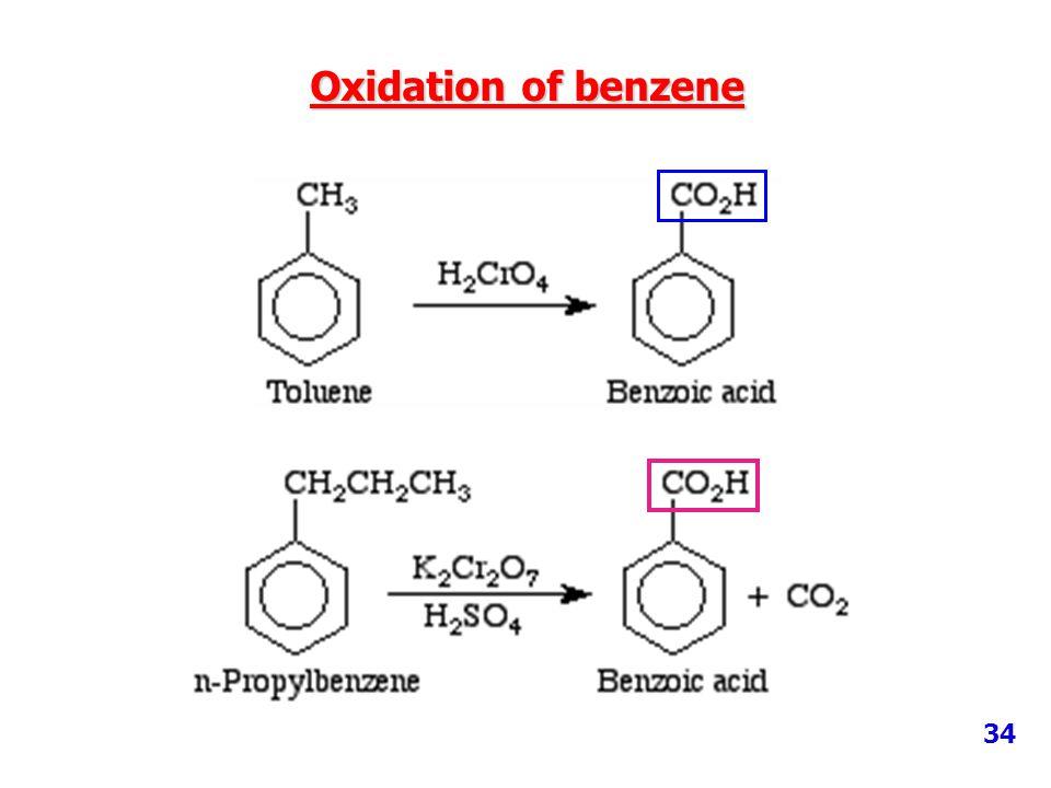 Oxidation of benzene 34