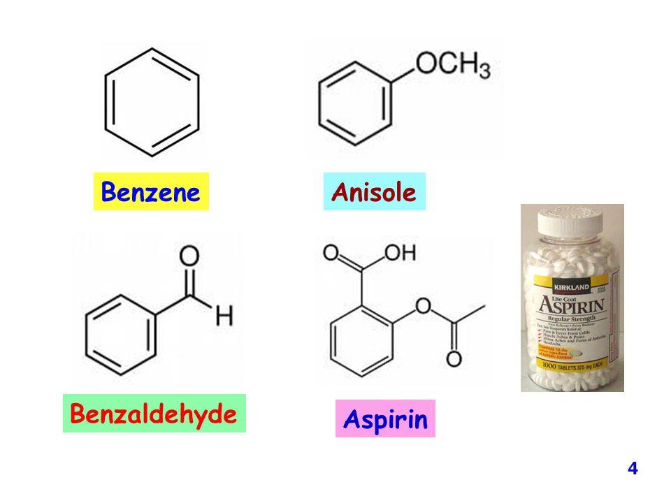 Benzene Anisole Benzaldehyde Aspirin 4