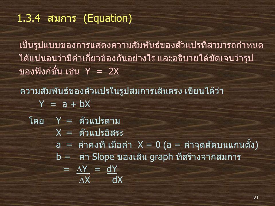 1.3.4 สมการ (Equation)