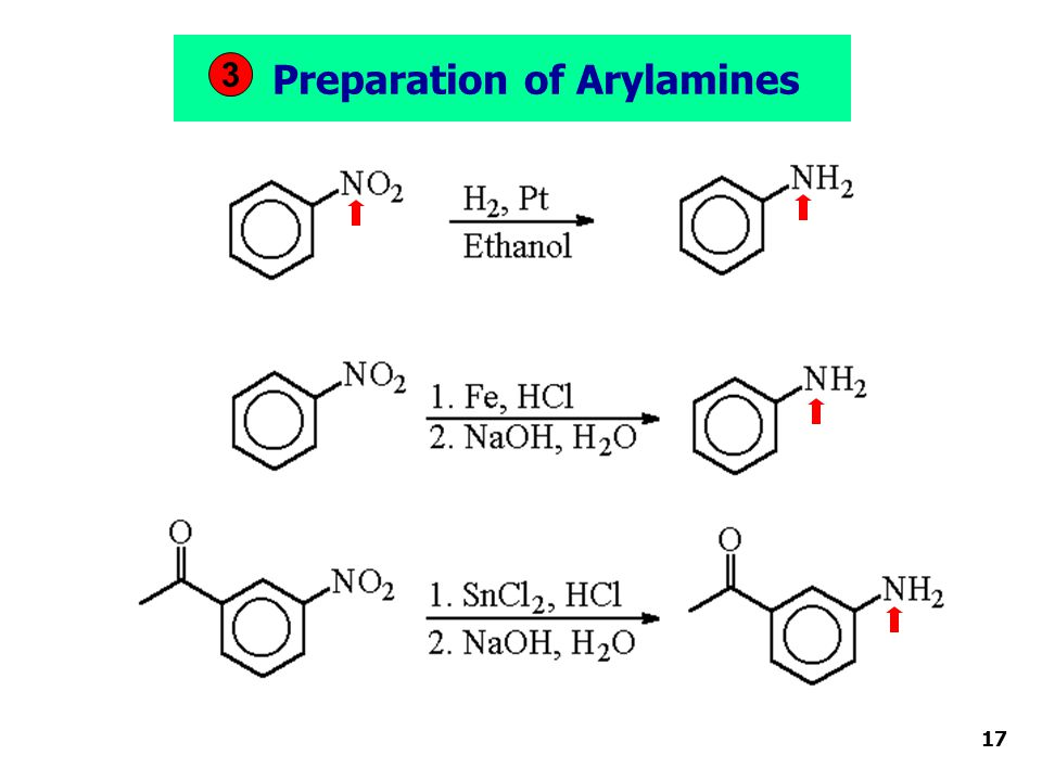 Preparation of Arylamines