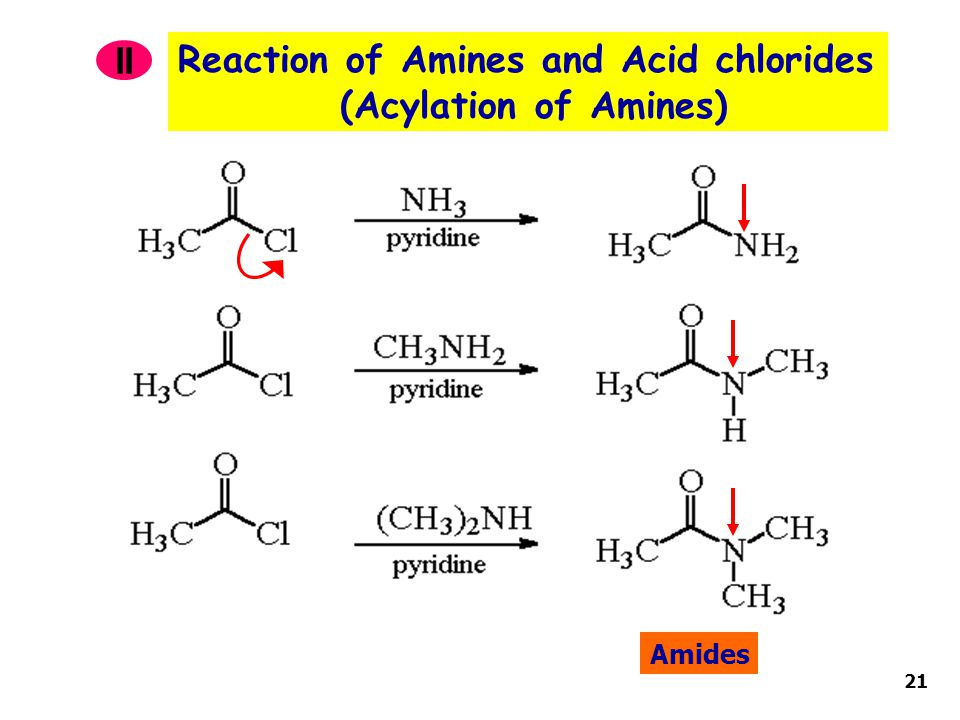 Reaction of Amines and Acid chlorides (Acylation of Amines) II