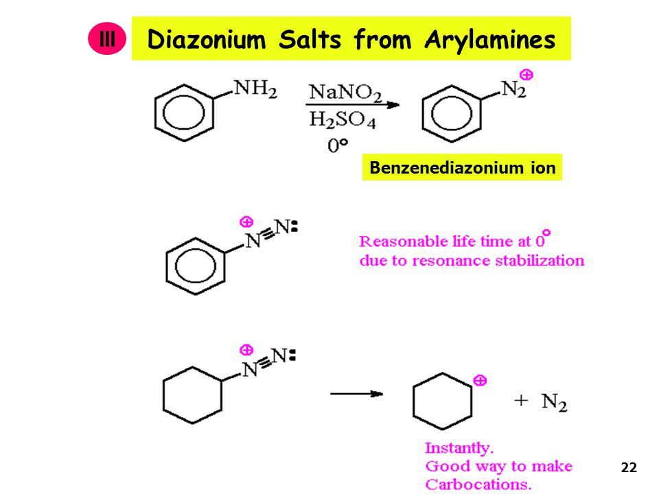 Diazonium Salts from Arylamines