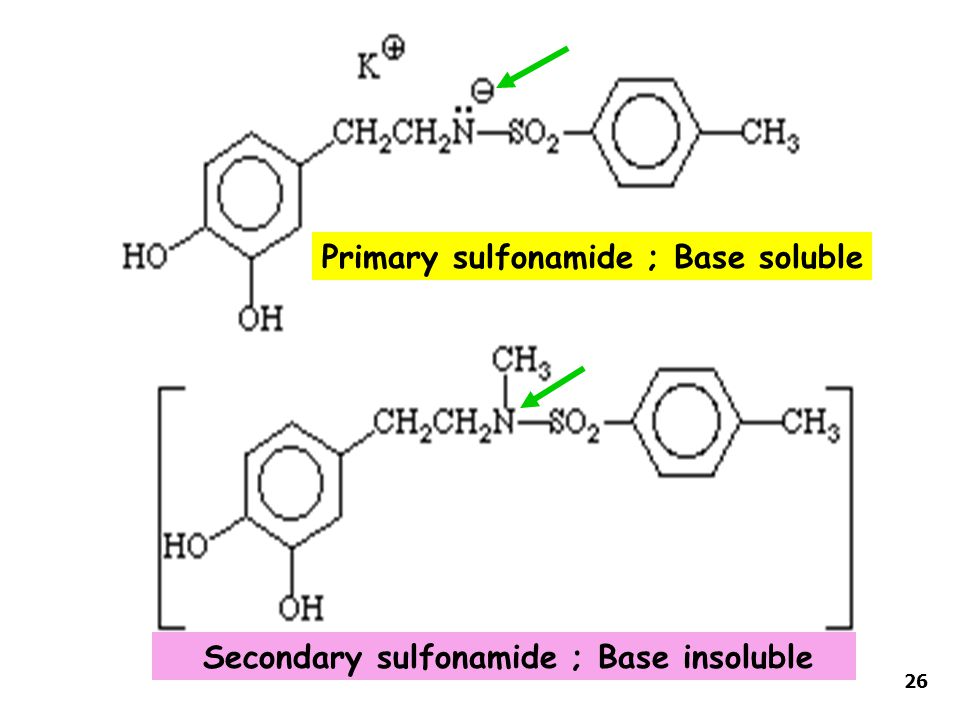 Primary sulfonamide ; Base soluble