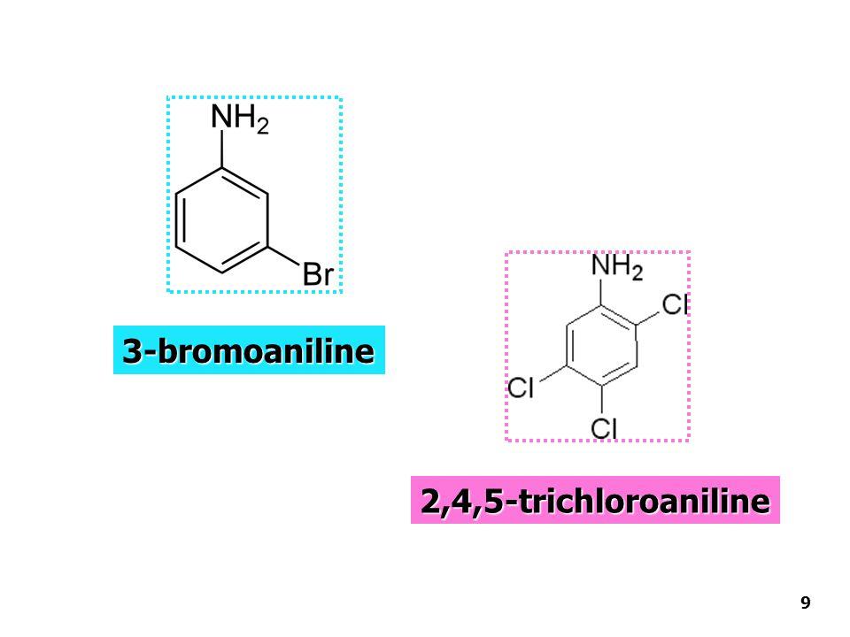 3-bromoaniline 2,4,5-trichloroaniline 9