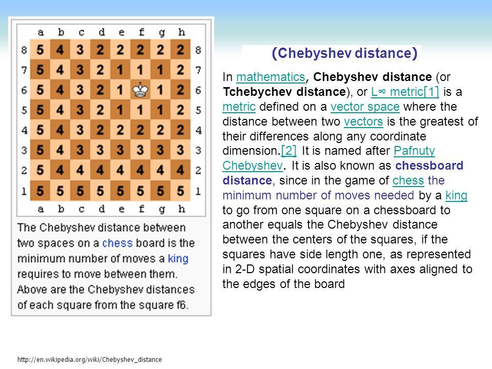(Chebyshev distance)