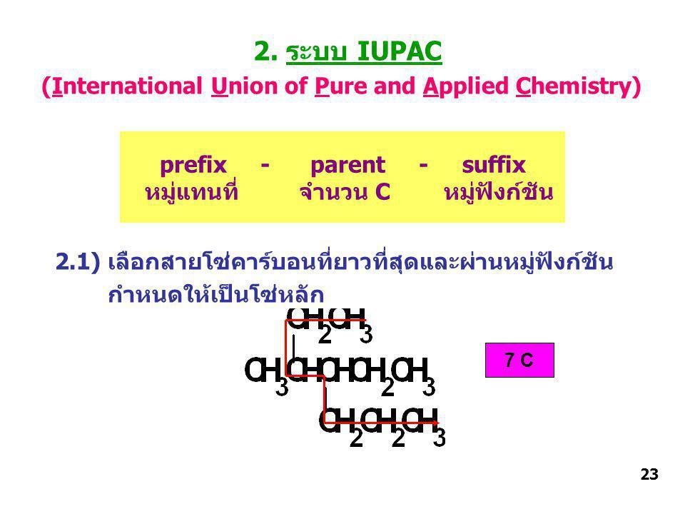 prefix - parent - suffix หมู่แทนที่ จำนวน C หมู่ฟังก์ชัน