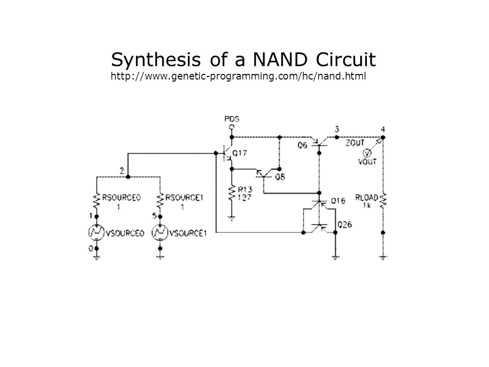 Synthesis of a NAND Circuit