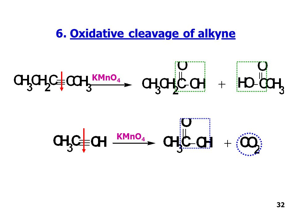 6. Oxidative cleavage of alkyne