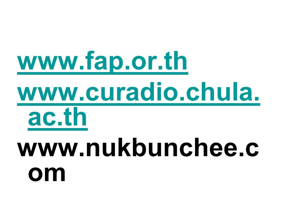 www.fap.or.th www.curadio.chula.ac.th www.nukbunchee.com